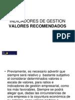Presentacion4_Indicadores de gestión, valores recomendados