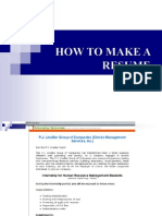 How to Make a Resume 2009-Fnsp