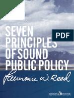 7 Principles Of Sound Public Policy