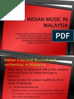 Indian Music in Malaysia-present