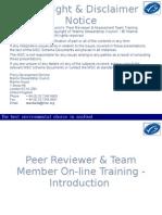 1. Peer Reviewer Training Module MSC Principles - Criteria