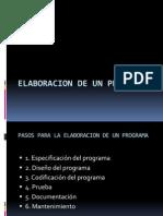 Elaboracion de Un Programa