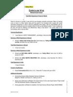 Resume of Safety Officer Officer