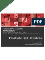 Prosthetic Gait Deviations