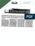 Tasse universitarie, Ateneo fuorilegge?
