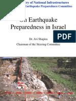 On Earthquake Preparedness in Israel
