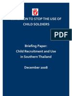South Thailand Briefing Paper December 2008