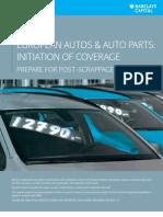 European Autos & Parts 2009 Q4 Barclays