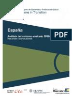 Informe sanitario español 2010