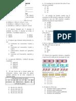Examen 01 as Primer Bimestre Cuarto Grado 2011-2012