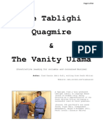 The Tablighi Quagmire & The Vanity Ulama