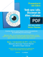 Presentació del llibre 'Amb cara  ulls. Diccionari de dites i refranys sobre l'ull' al Prat de Llobregat
