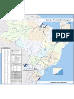 Mapa Das Hidrovias Do Brasil Detalhado Julho 2010