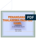 Power Point Talasemia Terbaru