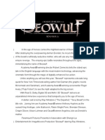 Beowulf Production Notes