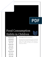 Food Consumption Habits in Children