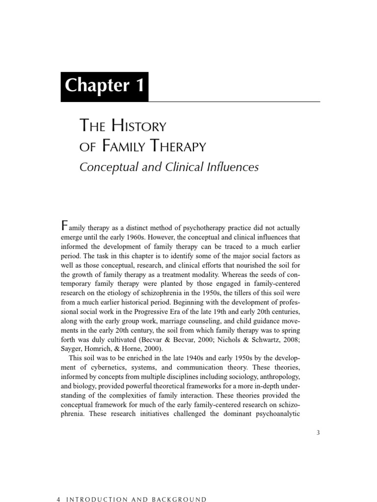 Family therapymodels and techniqueschapter1 the history of family therapymodels and techniqueschapter1 the history of family therapy psychotherapy family therapy biocorpaavc