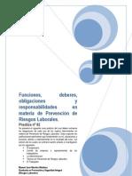 Análisis sentencia judicial sobre las funciones, deberes, obligaciones y responsabilidades en materia de PRL