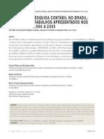 DEZ ANOS DE PESQUISA CONTÁBIL NO BRASIL