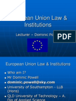 Lesson 1 European Union Law and Institutions