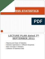 Statistics Presentation IMM