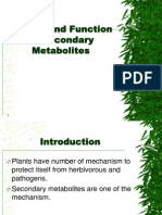 Groups and Function of Secondary Metabolites
