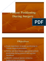 Patient Positioning During Surgery