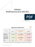 Diabetes Modificaciones de La ADA 2011 [Modo de ad