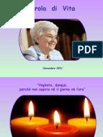 Parola Di Vita - Novembre 2011