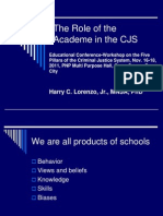 The Role of the Academe in the CJS