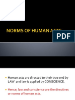 Norms of Human Acts
