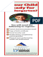 2009 Kindergarten Reg Bookmark