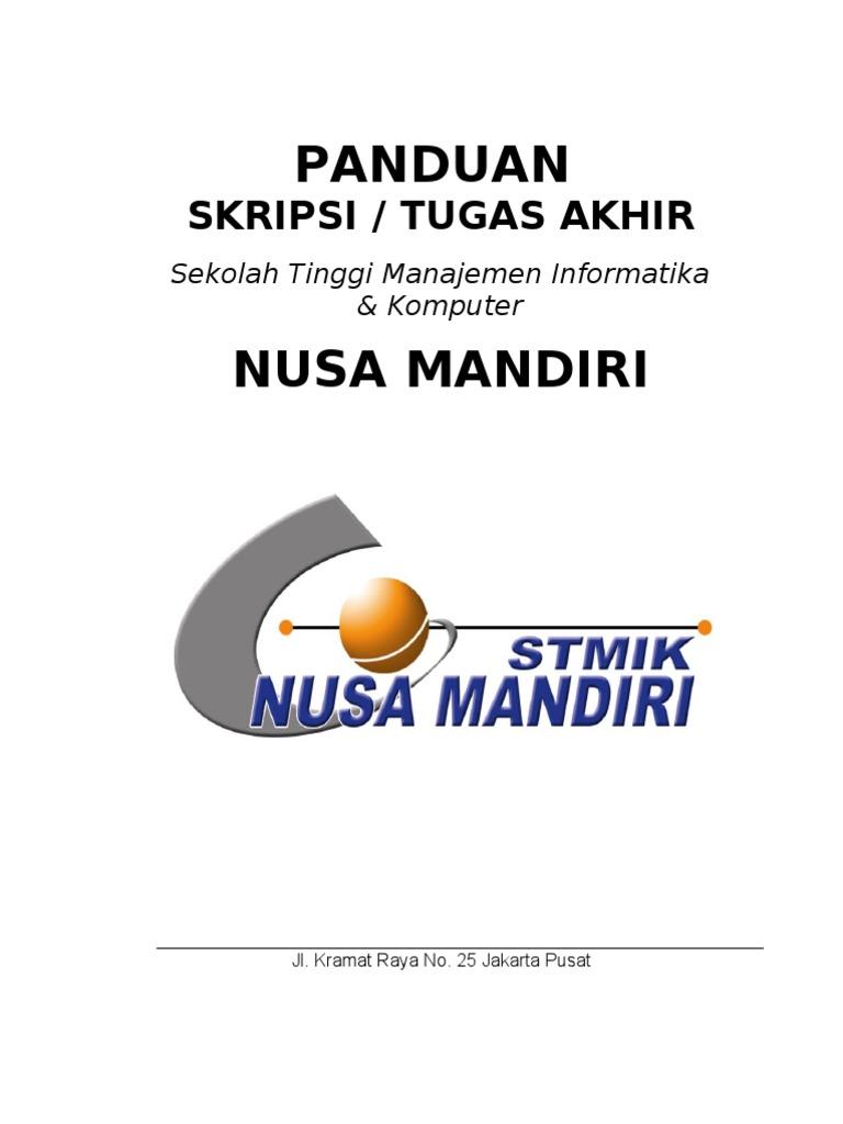 Jurnal Skripsi Sistem Informasi Nusa Mandiri Deathfasr