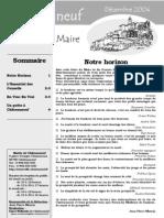 Lettre du Maire -2004-12