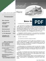 Lettre du Maire -2005-06