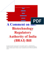 CIPRA Biotechnology Regulatory Authority of India