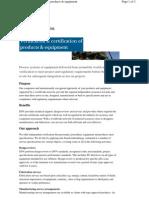DNV Verification & Certification of Eqpt