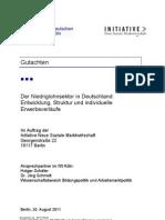 Der Niedriglohnsektor in Deutschland - IW Gutachten zum Arbeitsmarkt