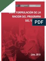 Calculo de La Racion PVL