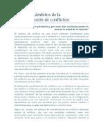 Los 4 niveles de la transformación de conflictos urbanos Herbert Ortega, 2010