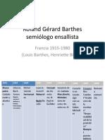 Roland Gérard Barthes semiólogo ensallista