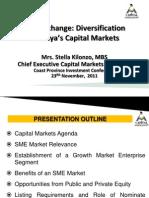 SME Exchange - Diversification in Kenyas Capital Markets