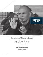Thich Nhat Hanh - Make a True Home of Your Love