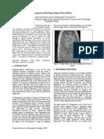 Fingerprint matching using gabor filter