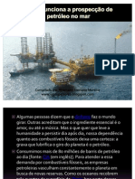 (2) Como funciona a prospecção de petróleo no mar