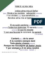 Bendice Alma Mia - Cantare de Tu Amor