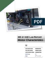 ME2134E Motor Characteristics