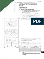 A750E Automatic Transmission Fluid Adjusment