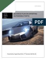 Export Automobile Parts Business Plan