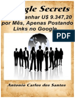 Inédito no Brasil! Como Ganhar U$ 9.347,20 por Mês, Apenas Postando Links no Google...